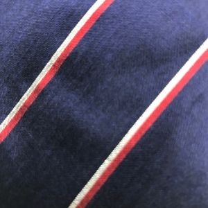 Thai Silk Blue Red Silver Striped Necktie A050702